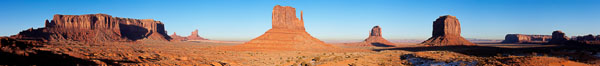 Monument Valley panorama, a composite of twelve individual photographs. Arizona, USA. Image #20901