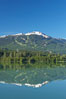 Green Lake, with Whistler Mountain in the distance. British Columbia, Canada. Image #21005
