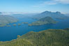 Flores Island (foreground) and Clayoquot Sound, aerial photo, near Tofino on the west coast of Vancouver Island. British Columbia, Canada. Image #21070