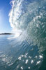 Wave breaking in early morning sunlight. Ponto, Carlsbad, California, USA. Image #21780