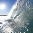 Wave breaking in early morning sunlight. Ponto, Carlsbad, California, USA. Image #21784