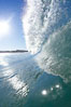 Wave breaking in early morning sunlight. Ponto, Carlsbad, California, USA. Image #21787