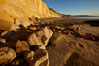 Boulders and sandstone cliffs, Torrey Pines State Beach. Torrey Pines State Reserve, San Diego, California, USA. Image #22436