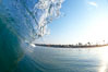 Cardiff morning surf, breaking wave. Cardiff by the Sea, California, USA. Image #23294