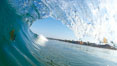 Cardiff morning surf, breaking wave. Cardiff by the Sea, California, USA. Image #23301