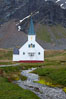 Grytviken Chapel, at the old whaling station of Grytviken, South Georgia Island. Image #24415