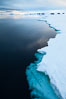 The edge of the fast ice along the shore, near Paulet Island. Paulet Island, Antarctic Peninsula, Antarctica. Image #24788