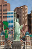 Statue of Liberty, replica, in front of New York New York hotel in Las Vegas. Nevada, USA. Image #25217