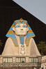 Egyptian Sphinx, replica, front entrance of the Luxor Hotel in Las Vegas. Nevada, USA. Image #25219
