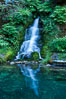 Small waterfall near The Chateau at Oregon Caves National Monument. USA. Image #25858