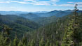 Mountains and trees, view overlooking Oregon Caves National Monument. USA. Image #25866