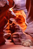 Upper Antelope Canyon slot canyon. Navajo Tribal Lands, Page, Arizona, USA. Image #26611