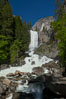 Vernal Falls and Merced River in spring, heavy flow due to snow melt in the high country above Yosemite Valley. Yosemite National Park, California, USA