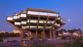 UCSD Library glows at sunset (Geisel Library, UCSD Central Library). University of California, San Diego, USA. Image #26908