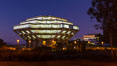 UCSD Library glows at sunset (Geisel Library, UCSD Central Library). University of California, San Diego, USA. Image #26912