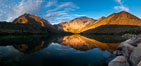 Convict Lake sunrise reflection, Sierra Nevada mountains. Image #26972