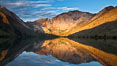 Convict Lake sunrise reflection, Sierra Nevada mountains. Image #26974