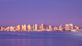 San Diego harbor and skyline, viewed at sunset. California, USA. Image #27149