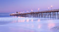 Oceanside Pier at sunrise, dawn, morning. California, USA