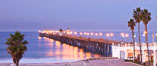 Oceanside Pier at sunrise, dawn, morning. California, USA. Image #27231