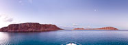 Sea of Cortez coastal scenic panorama, near La Paz, Baja California, Mexico. Image #27376