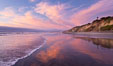 South Carlsbad State Beach sunset, beautiful clouds and soft colors. California, USA. Image #27407