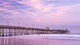 Imperial Beach pier at sunrise, California, USA. Image #27410