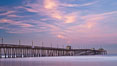 Imperial Beach pier at sunrise, California, USA. Image #27411