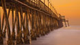 Imperial Beach pier at sunrise, California, USA. Image #27414