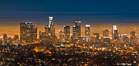 Downtown Los Angeles at night, street lights, buildings light up the night. California, USA. Image #27725