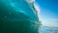Breaking wave, morning, barrel shaped surf, California. USA. Image #27994
