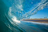 Breaking wave, morning, barrel shaped surf, California. USA. Image #27997