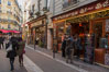 Latin Quarter.  The Latin Quarter of Paris is an area in the 5th and parts of the 6th arrondissement of Paris. It is situated on the left bank of the Seine, around the Sorbonne known for student life, lively atmosphere and bistros. Quartier Latin, France. Image #28184