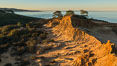 Broken Hill and view to La Jolla, from Torrey Pines State Reserve, sunrise. San Diego, California, USA. Image #28369