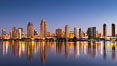 San Diego City Skyline at Sunrise. San Diego, California, USA. Image #28379