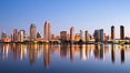 San Diego City Skyline at Sunrise. San Diego, California, USA. Image #28380