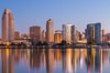 San Diego City Skyline at Sunrise. San Diego, California, USA. Image #28381