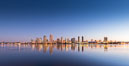 San Diego City Skyline at Sunrise. California, USA. Image #28382