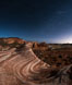 The Fire Wave by Moonlight, stars and the night sky, Valley of Fire State Park. Nevada, USA. Image #28440
