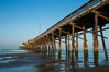 Newport Pier, underneath the pier, pilings and ocean. Newport Beach, California, USA. Image #28471