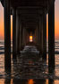 Scripps Pier solstice, sunset aligned perfectly with the pier. Scripps Institution of Oceanography, La Jolla, California, USA. Image #28478
