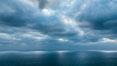 Clouds and afternoon light over the Pacific Ocean. Del Mar, California, USA. Image #28481
