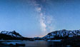 Milky Way over Tioga Lake, Yosemite National Park. California, USA. Image #28521