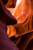 Lower Antelope Canyon, a deep, narrow and spectacular slot canyon lying on Navajo Tribal lands near Page, Arizona. Navajo Tribal Lands, USA. Image #28557
