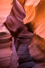 Lower Antelope Canyon, a deep, narrow and spectacular slot canyon lying on Navajo Tribal lands near Page, Arizona. Navajo Tribal Lands, USA. Image #28560