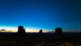 Monument Valley panorama, sunrise, dawn, stars in the sky. Arizona, USA. Image #28598