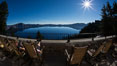View from Crater Lake Lodge, Crater Lake National Park. Crater Lake National Park, Oregon, USA. Image #28673