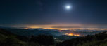 Moon and Stars over Pauma Valley, viewed from Palomar Mountain State Park. California, USA. Image #28751