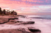 Sunrise Clouds and Surf, Hospital Point, La Jolla. California, USA. Image #28830