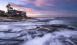 Sunrise Clouds and Surf, Hospital Point, La Jolla. California, USA. Image #28834